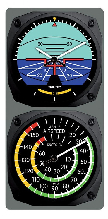 Horizon Wall Clock / Airspeed Thermometer