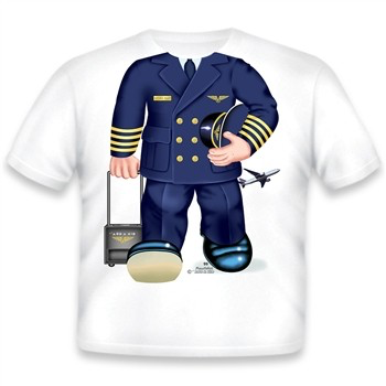 Toddler Tee Shirt - Airline Pilot