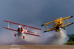 gary and buck down runway