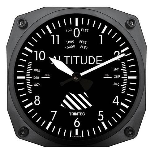 "6"" Altimeter Instrument Style Clock"