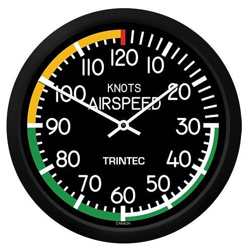 """10"""" Modern Airspeed Round Clock"""