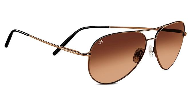 Serengeti Medium Aviator Sunglasses - Henna