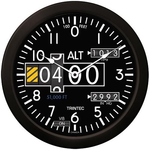 "14"" Modern Altimeter Clock"