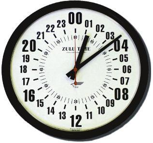 "14"" ZuluTime 24-Hour Clock - American Aviator"
