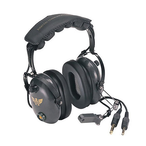 AVCOMM Deluxe Stereo PNR Headset with Push to Talk Switch [AC-454]