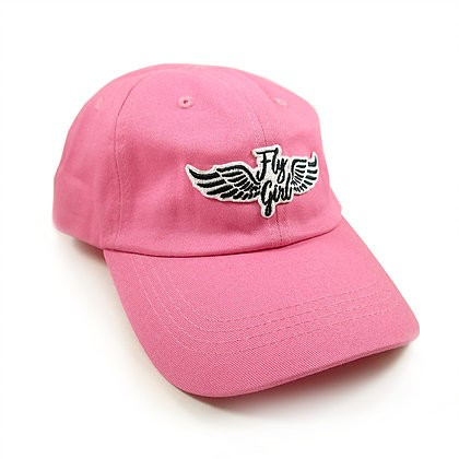 Pink Ball Cap with Fly Girl Wing Patch