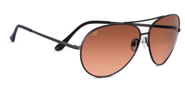 Serengeti Large Aviator Sunglasses - Matte Black