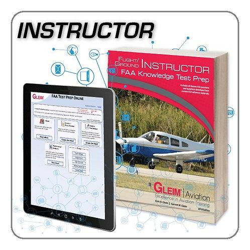 GLEIM Flt Instructor/Ground Instructor Knowledge Test Prep Online and Book Set
