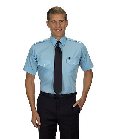 Aviator Shirt (Short-sleeved, Blue)