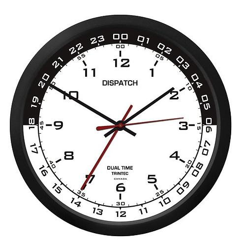 """10"""" Dispatch Dual Time Clock (Zulu) - White Inner"""