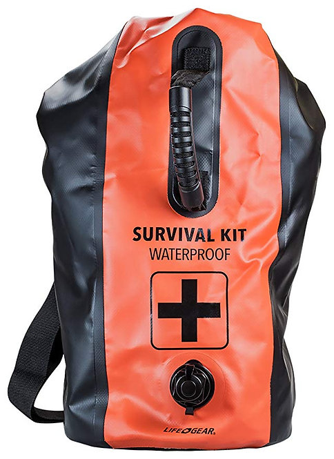 Two-Person Waterproof 72-Hour Premium Survival & Emergency Dry-Bag Backpack Kit