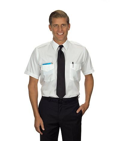 Commander Shirt (Tall, Short-sleeved, White)