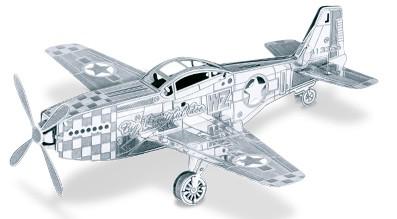 3-D Laser Cut Model - P51 Mustang