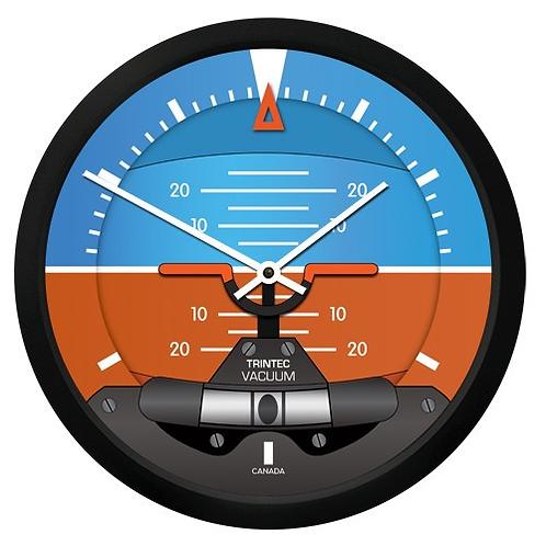 "10"" Modern Artificial Horizon Round Clock"