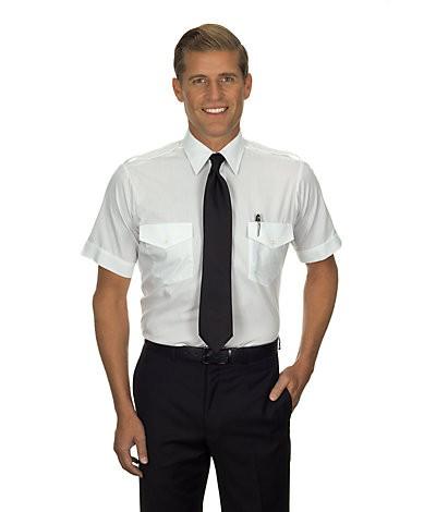 Aviator Shirt (Short-Sleeved, White)