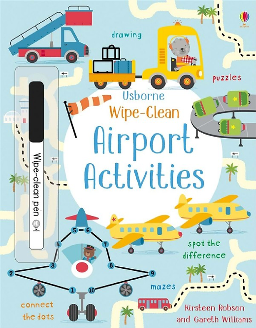 Airport Activity Book - Wipe Clean