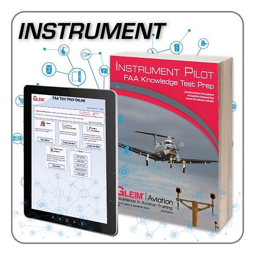 GLEIM 2020 Instrument Pilot Knowledge Test Prep Online and Book Set