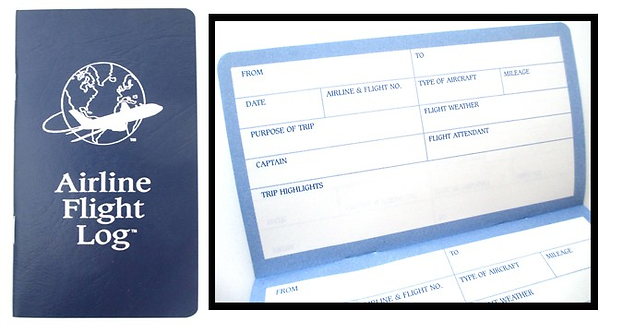 Kid's Air Travel Logbook