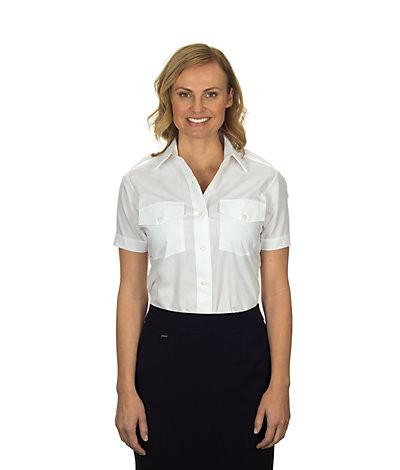 Aviator Women's Shirt (Short-sleeved, White)