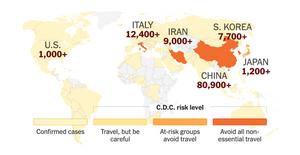全球武漢肺炎(新冠疫情)分佈圖