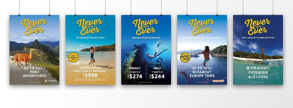 Dani Larosa Design - STA Travel - Never Have I Ever Campaign