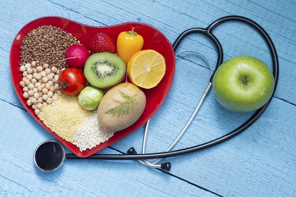 healthy heart foods, stethoscope, pills and skills method