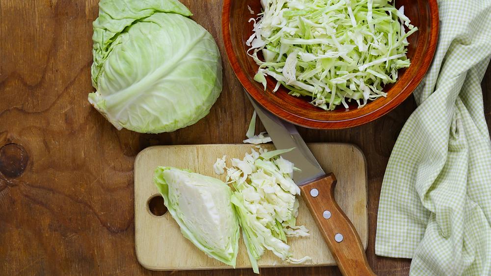 fresh cut cabbage