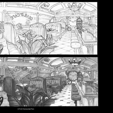 Steampunk 2D Layout Design