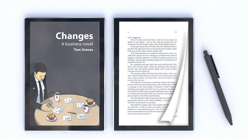 changes book cover 3d view e reader amen