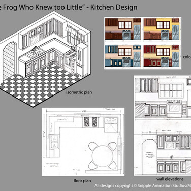 Kitchen Design w/orthographics