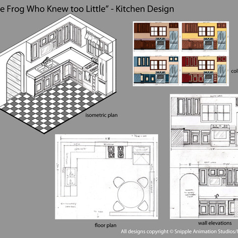 Kitchen Design w/orthographics