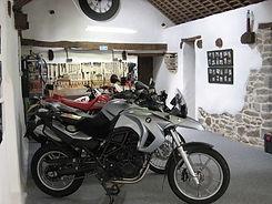 Secure garage at Brittany Biker Breaks