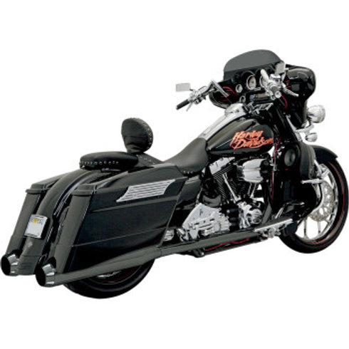 Bassani Xhaust +P Bagger Stepped True Duals with Power Curve, BLACK