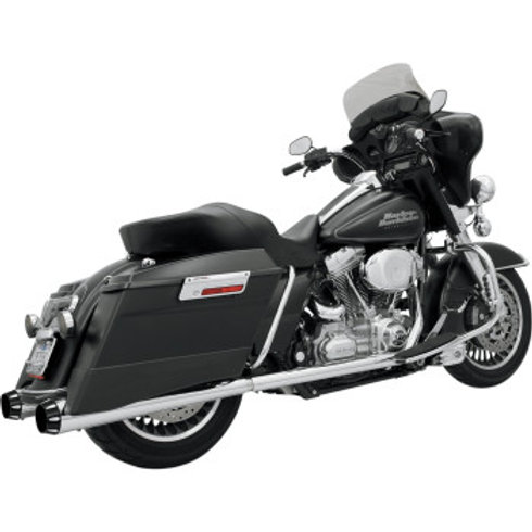 Bassani Xhaust +P Bagger Stepped True Duals with Power Curve