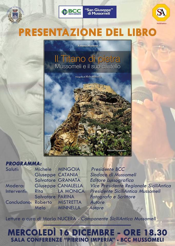 locandina Libro fotografico di Roberto Mistretta su Mussomeli