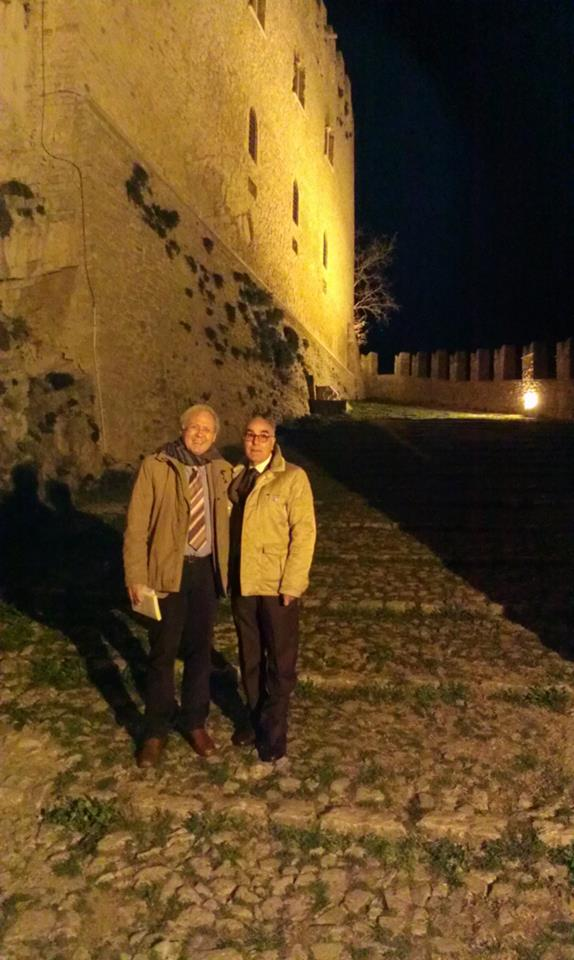 Con Giovanni Mancuso al castello di Caccamo