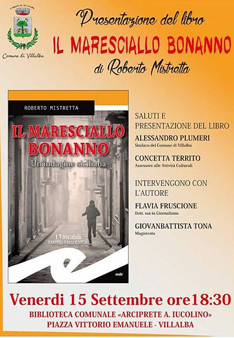 LocandiIl maresciallo Bonanno romanzo di Roberto Mistrettaa