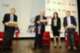 I giudici Sergio Lari e Giovanbattisa Tona con l'autore Roberto Mistretta