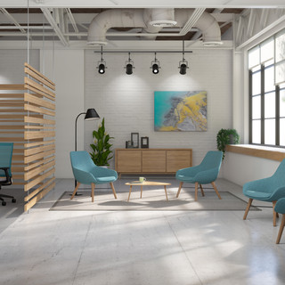 Lilly Lounge w/ wood base- Luna