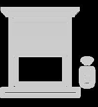 icone estores sem caixa compacta com motor