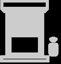 icone estores com caixa compacta com motor