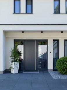 Porta de entrada de Aluminio de cor conz