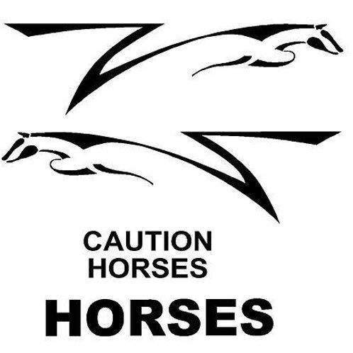 Horse Box Decal Set