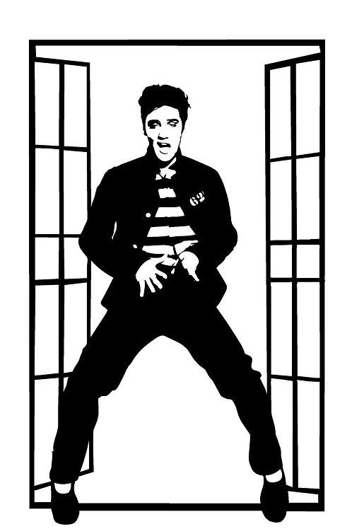 Elvis Jailhouse Rock Decal