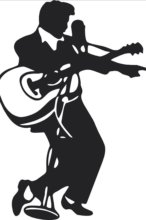 Elvis with Guitar Decal