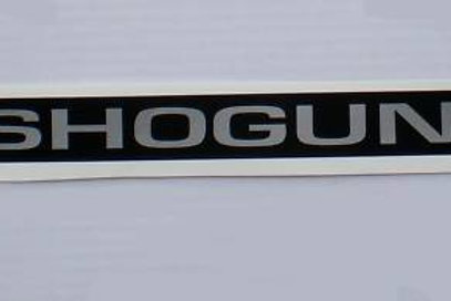 Shogun Rear Door Handle Decal