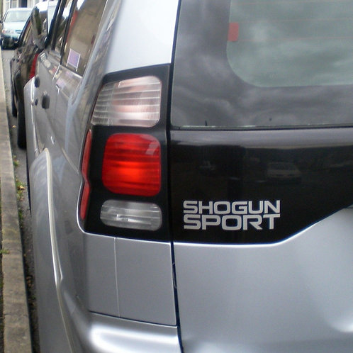 Shogun Sport Rear Decal