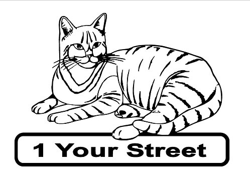 Cat Wheelie Bin Sticker