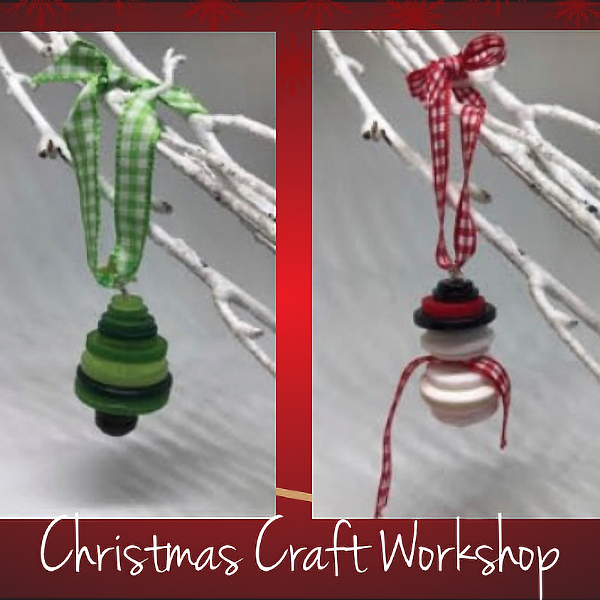 Make your own Button Christmas Decorations