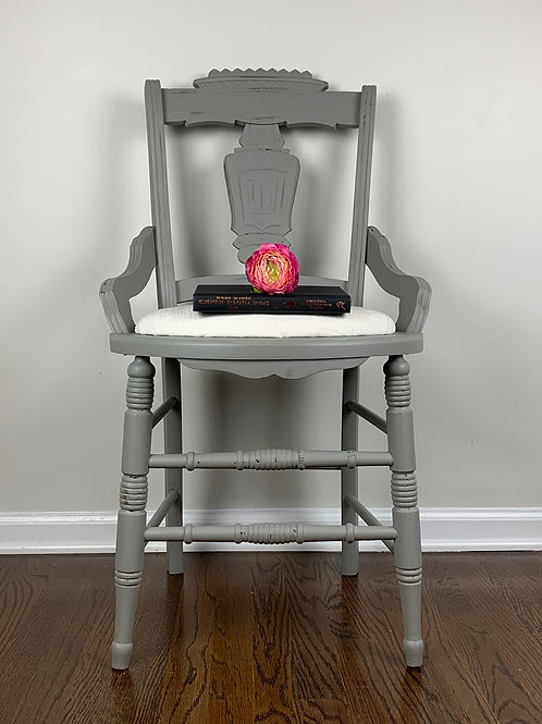 Eastlake gray side/vanity/desk chair